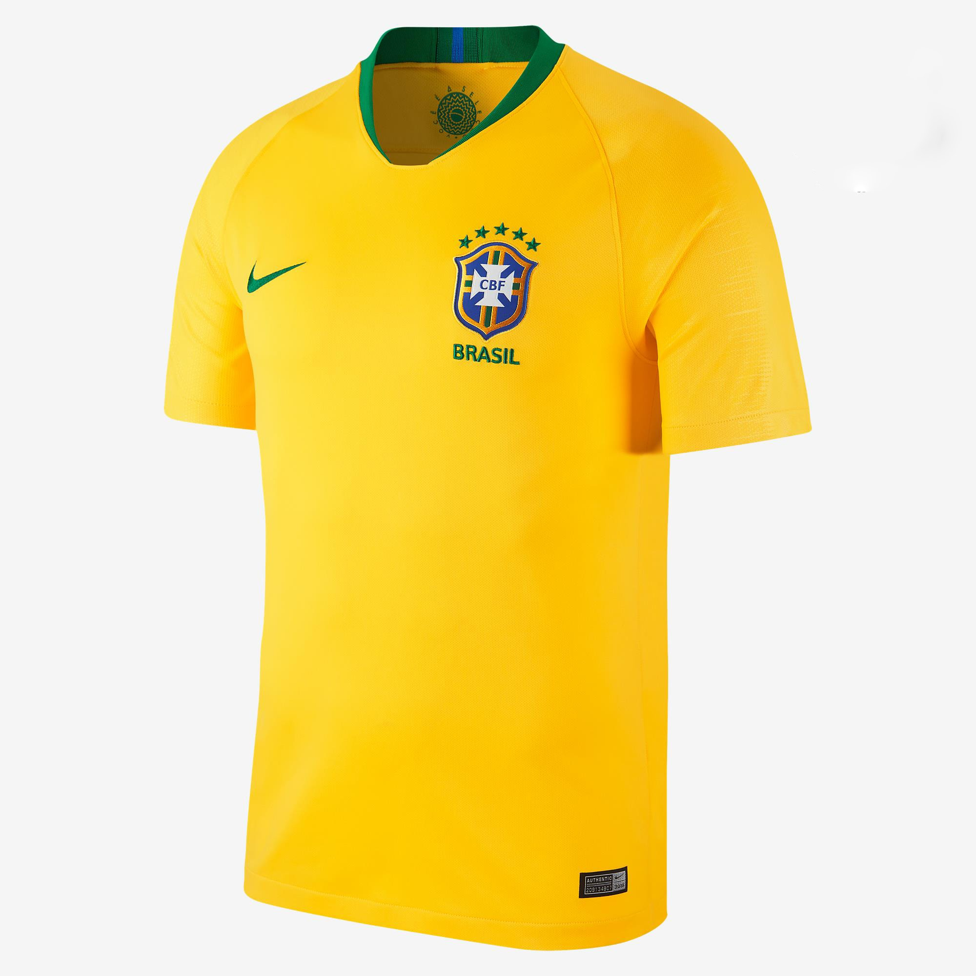 Brazil Home Jersey FIFA World Cup 2018 - Diamu Jerseys 8ebb0943e