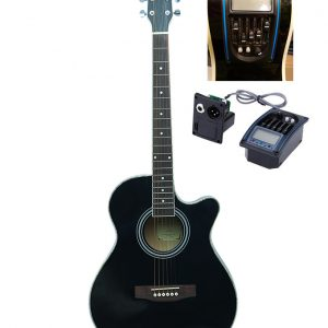 AXE Black Acoustic Guitar Diamu