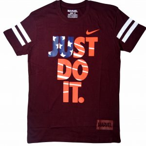 Just Do It Men's Round Neck Maroon T-Shirt Diamu