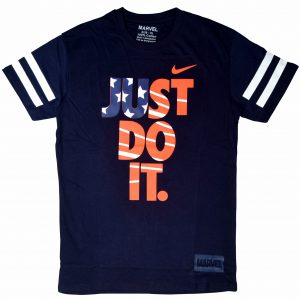 Just Do It Men's Round Neck Navy Blue T-Shirt Diamu