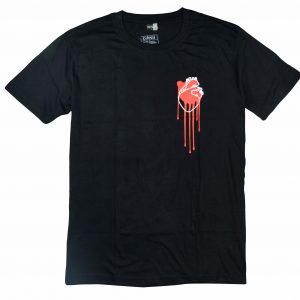 bleeding heart black men's t-shirt diamu