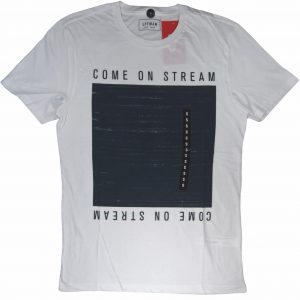 come on stream men's white t-shirt diamu