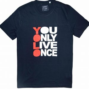 diamu t-shirts YOLO navy blue