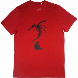 ink dragon red diamu t-shirts