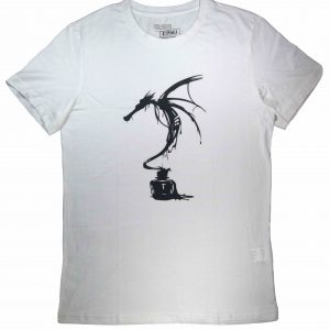 ink dragon white diamu t-shirts