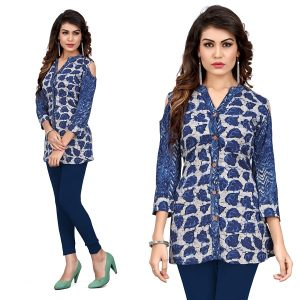 rayon tops navy blue color diamu