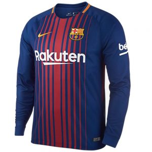 barcelona full sleeve home jersey 2017-18 diamu
