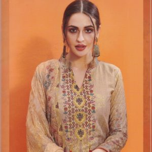 Aanzara Embroidered Cotton Salwar Kameez Suits Dass-05 Diamu