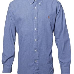 Men's Premium Brand Long Sleeve Cotton Blue check Shirts Diamu