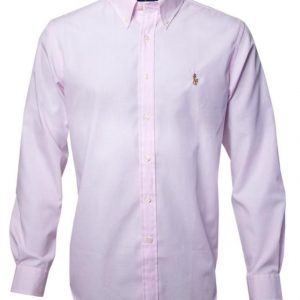 Men's Premium Brand Long Sleeve Cotton pink mini check Shirts Diamu