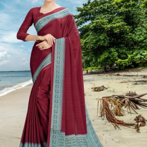 Rishabh Fashion's Creepe Silk Saree Diamu