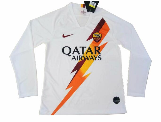 new concept 9a9d9 11c17 AS Roma Away Full Sleeve Jersey 2019-20