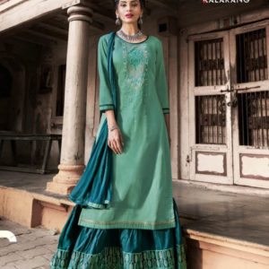Kalarang Blueberry Silk Cotton Suits And Lehenga Diamu