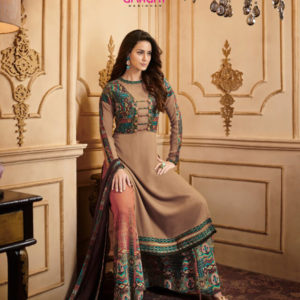Arihant Rangrez Heavy Embroidered Printed Georgette Saree DARS-35006