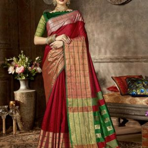 Shakunt Anshula Weaving Silk Saree (DSAS-40402) Diamu