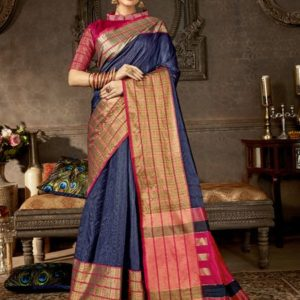 Shakunt Anshula Weaving Silk Saree (DSAS-40405)