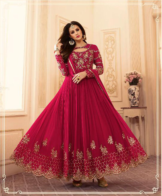 Relssa Embroidered Georgette Gown Suits 101 Diamu