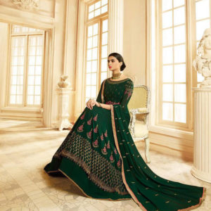 Zubeda Seher Embroidered Georgette Gown Suits 14901 Diamu