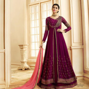 Zubeda Seher Embroidered Georgette Gown Suits Diamu