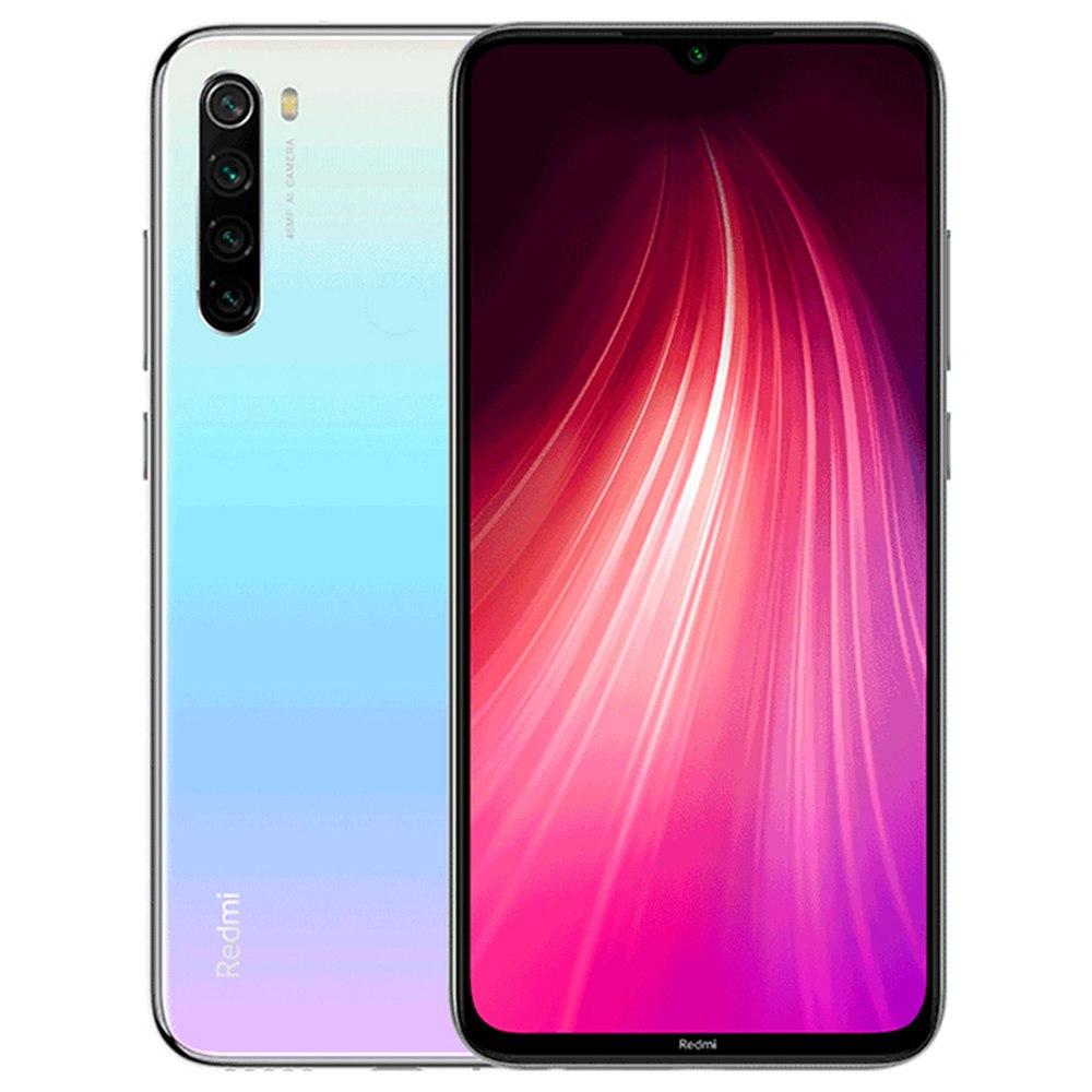 ស្មាតហ្វូន Xiaomi Redmi Note 8 6.3 អ៊ីញ 4G LTE ស្មាតហ្វូន Snapdragon 665 4GB 64GB 48.0MP + 8.0MP + 2.0MP + 2.0MP Quad Rear Camera Fingerprint ID Dual SIM Android 9.0 Global Version - ខ្មៅ
