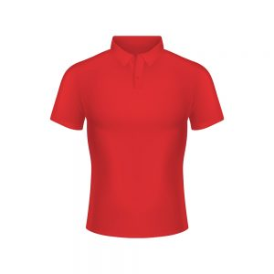 Custom Polo Red Front