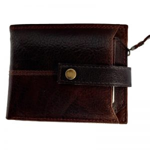 Tan Artificial Leather Wallet Dark Brown