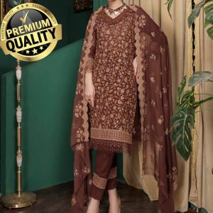 Anaya Hoor Swiss Cotton Embroidered Pakistani Suit (DAHS-04)
