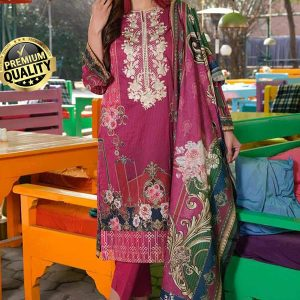 Johra Gulizar Embroidered and digital print Lawn with Jacquard Dupatta DJLS-075