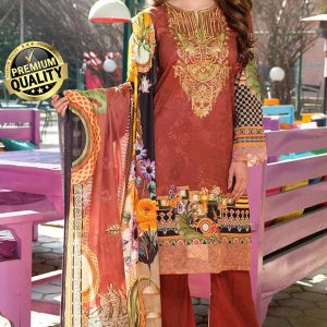 Johra Gulizar Embroidered and digital print Lawn with Jacquard Dupatta DJLS-079