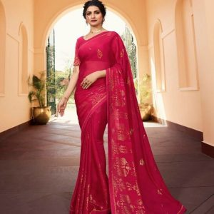 Vinay Silk Georgette Saree Fountain 21122 1