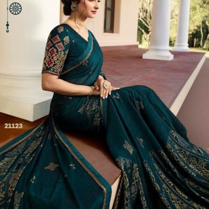 Vinay Silk Georgette Saree Fountain 21123