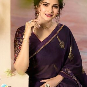 Vinay Silk Georgette Saree Fountain 21124