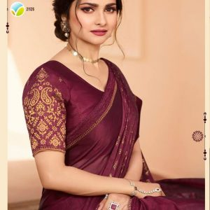 Vinay Silk Georgette Saree Fountain 21126