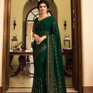 Vinay Silk Georgette Saree Fountain 21127