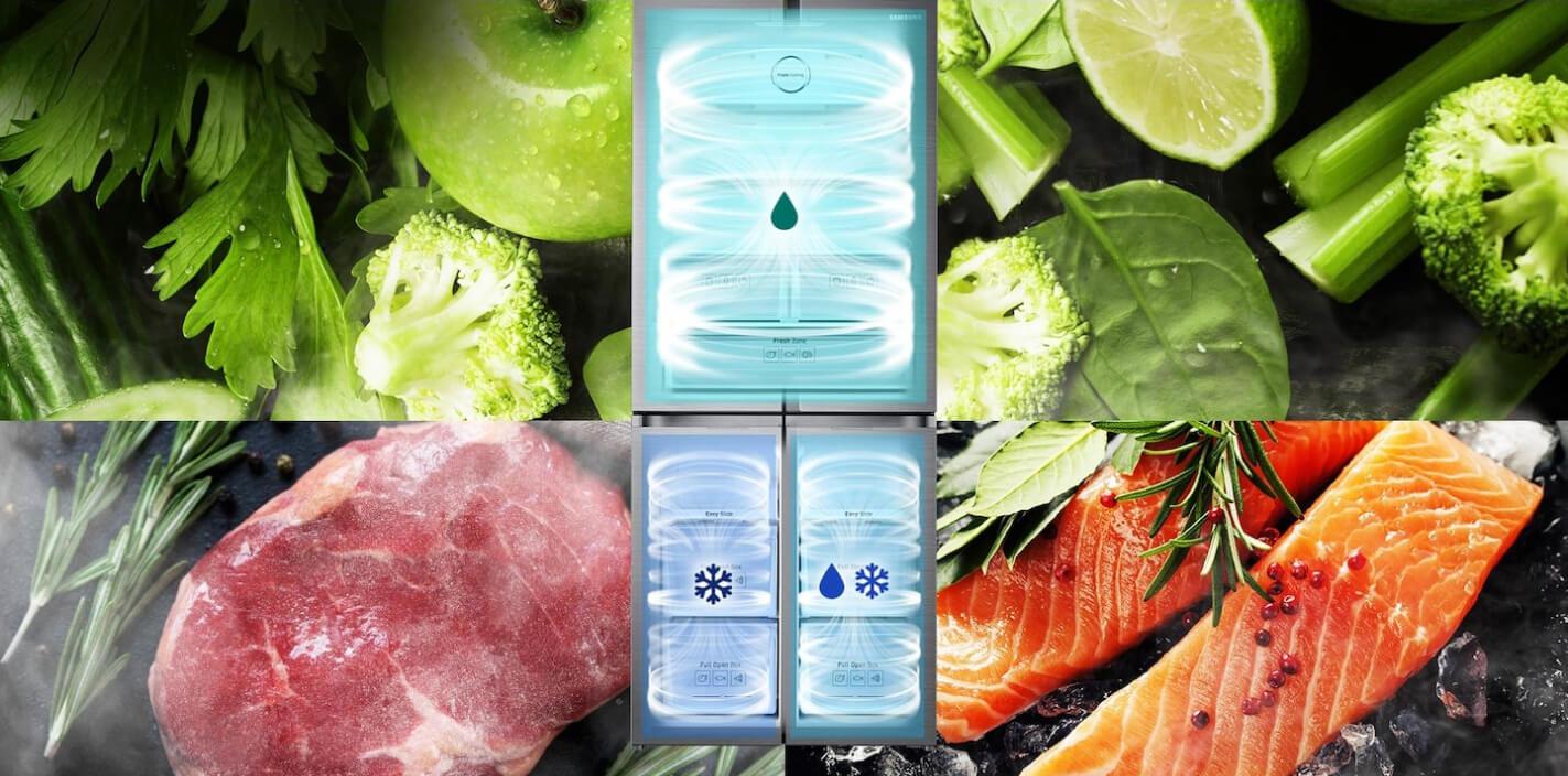 Samsung Triple Cooling Refrigerator RF50K5910SL