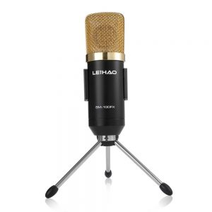 BM 100FX USB Condenser Sound Recording Microphone with Stand Holder