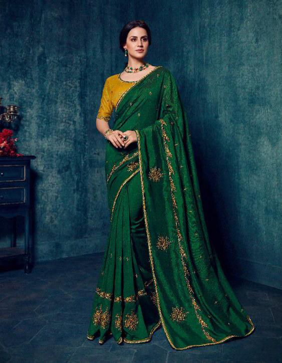 Ardhangini Shreya Embroidery Work Silk Saree 2172