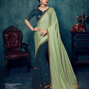 Ardhangini Shreya Embroidery Work Silk Saree 2174