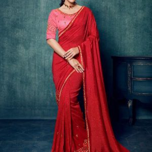 Ardhangini Shreya Embroidery Work Silk Saree 2175