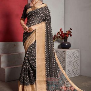 Jacquard Lilen Fancy Saree Alveera Aashi1761