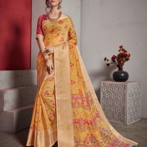 Jacquard Lilen Fancy Saree Alveera Aashi1767