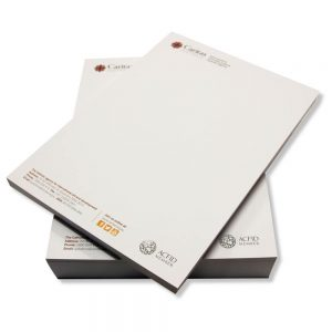 Letterheads pad