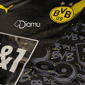 Boroussia Dortmund Away Full Sleeve Jersey 2020-21
