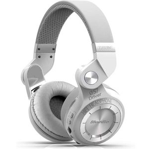 Bluedio T2 Plus Turbine Wireless Bluetooth Headphones White (1)