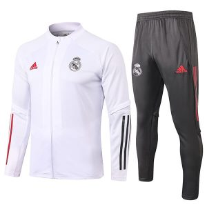 Real madrid Presentation jacket set White 2020-21
