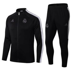 Real madrid Anthem Jacket Trouser Set 2020-21 Black