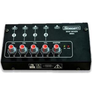 Stranger MM4 4-Channels Mini Mono Audio Mixer