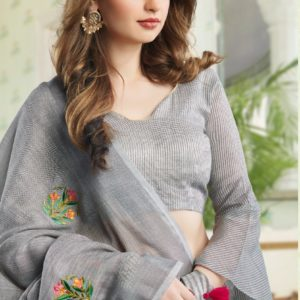 Sangam Amaira Cotton Saree with Embroidery DSAS-4006 1
