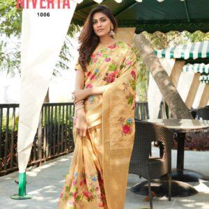 Jacquard Digital Print Saree