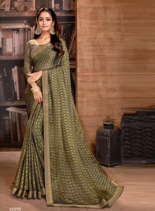 Antra Erisha Fancy Brasso Saree DABS-66890